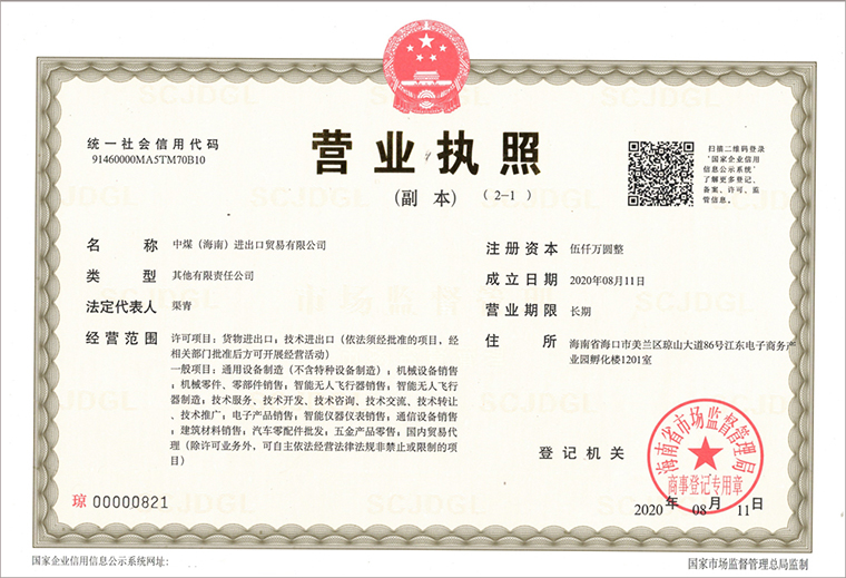 Congratulations On The Establishment Of China Coal (Hainan) Import And Export Trade Co., Ltd